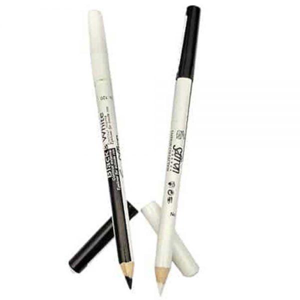 Saffron Black & White Kohl Eyeliner Pencil