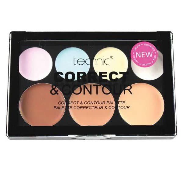 Technic Cream 7 Colour Corrector And Contour Palette