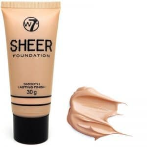 W7 Sheer Foundation Smooth Lasting Finish Nude